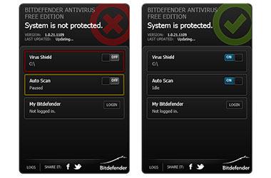 скриншоты антивируса БитДефендер 1.0.21.1109 для Windows 7, Vista, XP
