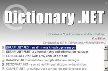 Принтскрин DictionaryNET