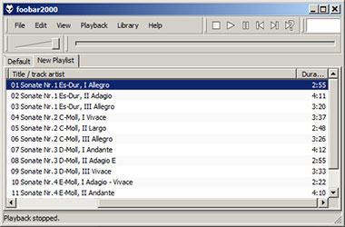 Скриншоты FLAC-плеера Foobar2000 для Виндовс