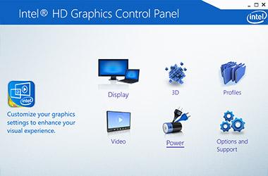 Интерфейс видеодрайвера Интел