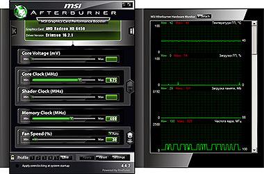 Скриншоты МСИ Афтербурнер