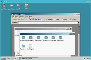 Скриншот QEMU